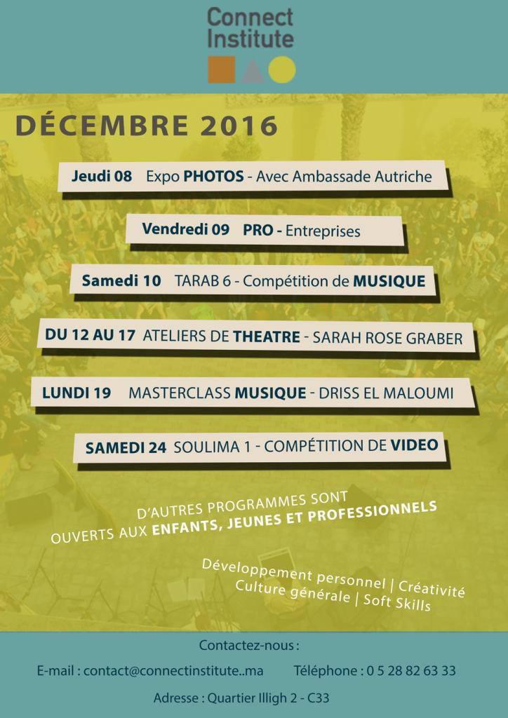 Programme décembre 2016
